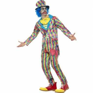 Eng horror clown foute kleding met streepjes