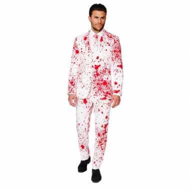 Feest foute kleding bloedspatten print
