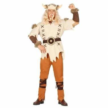 Feestfoute kleding viking lichtbruin voor heren