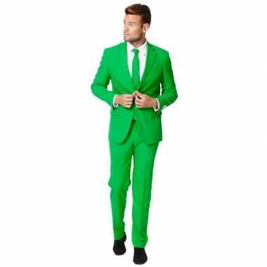 Fel groen foute kleding pak voor heren