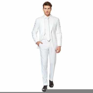Fel wit foute kleding pak voor heren