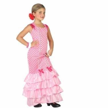 Flamenco danseres foute kleding voor kinderen roze