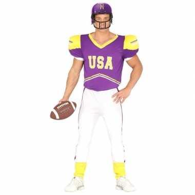 Football foute kleding paars/geel voor heren