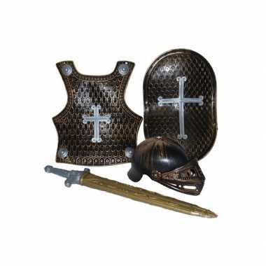 Foute 4 delige ridder set brons kleding