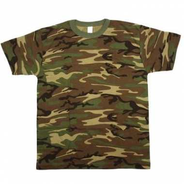 Foute army leger camouflage t-shirt korte mouwen voor heren kleding