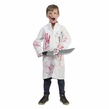 Foute bebloede doktersjas voor kinderen maat 140 kleding