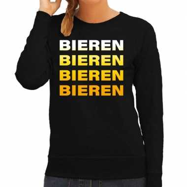 Foute bieren bieren bieren bieren sweater zwart voor dames kleding