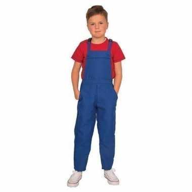 Foute blauwe tuinbroek/overall voor kinderen kleding