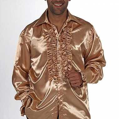 Foute blouse met rouches in het goud kleding