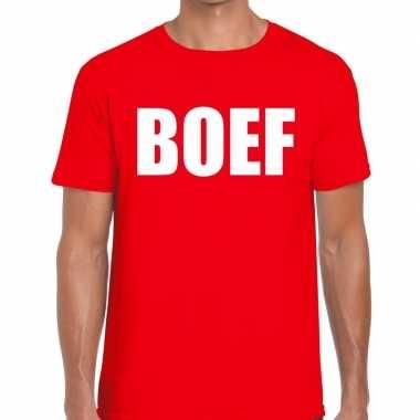 Foute boef heren t shirt rood kleding