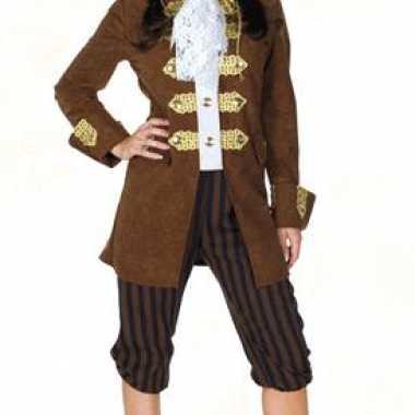 Foute bruin dames piratenpak kleding