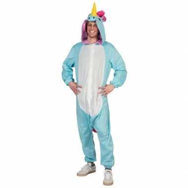 Foute canaval onesie blauwe eenhoorn heren kleding