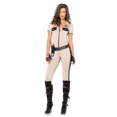 Foute carnaval politie catsuit met accessoires kleding