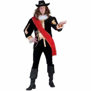 Foute carnavals musketierspak voor mannen kleding