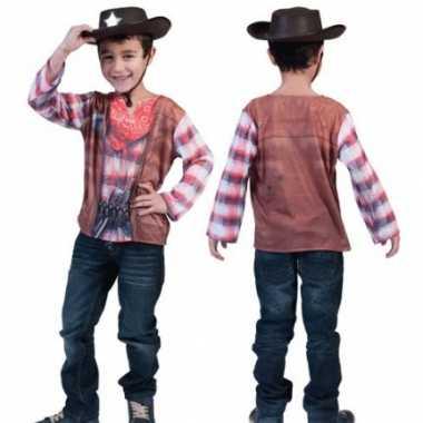 Foute cowboy t shirt voor kids kleding