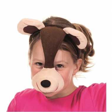 Foute dieren feestmaskers beer kleding