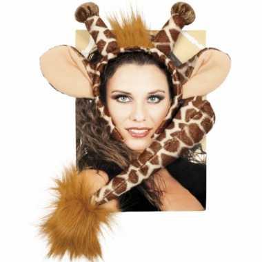 Foute dieren set giraffe kleding