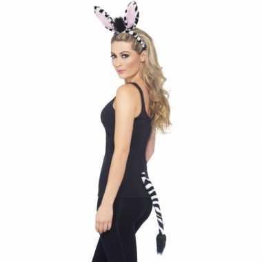 Foute dieren set zebra kleding 10078163