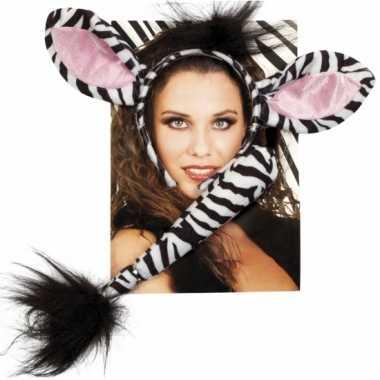 Foute dieren set zebra kleding