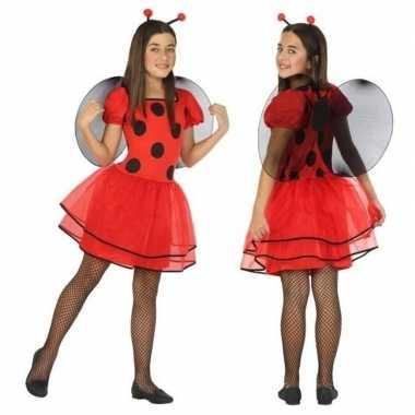 Foute dierenpak lieveheersbeestje jurk/jurkje voor meisjes kleding