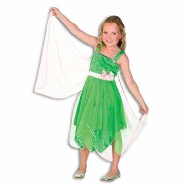 Foute elfjes jurkje met vleugels in groen kleding