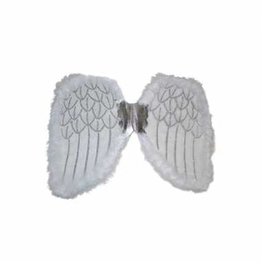Foute engelen vleugels wit 36 cm kleding