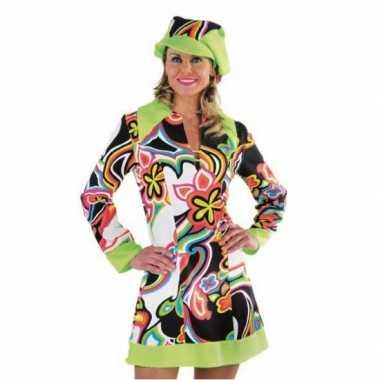Foute flower power hippie jurk dames kleding