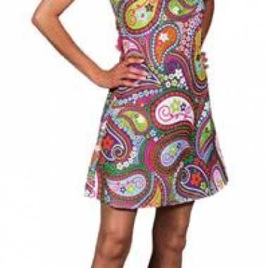 Foute gekleurde halter hippie jurk kleding