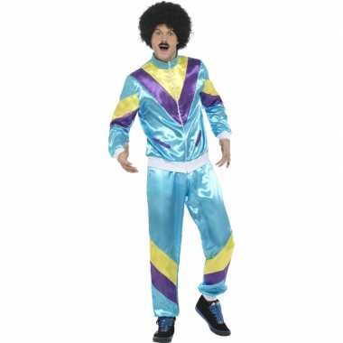 Foute gekleurde jaren 80 trainingspak kleding 10029659
