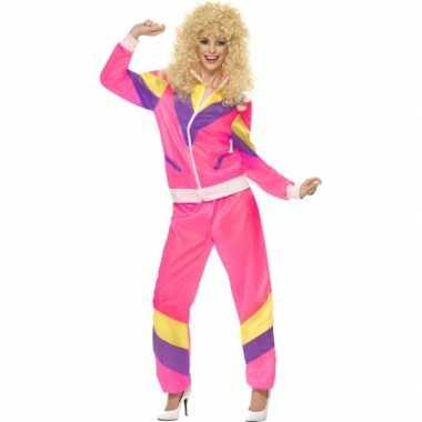 Foute gekleurde jaren 80 trainingspak kleding