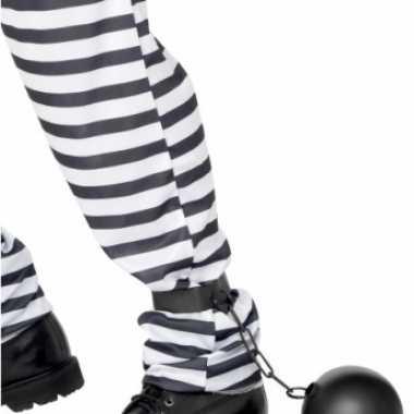 Foute gevangenis bal met ketting kleding