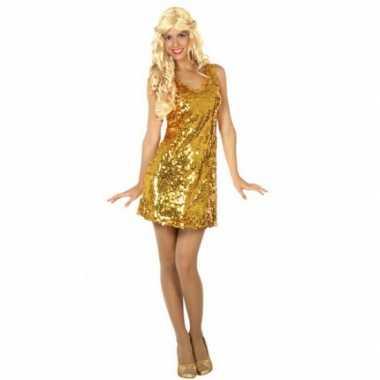 Foute goud jurkje met pailletten kleding