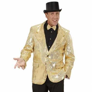 Foute gouden glitter blazer kleding