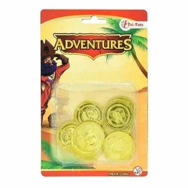 Foute gouden piraten speelgoed munten kleding