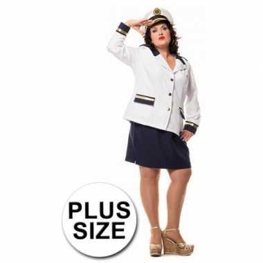 Foute grote maat dames uniform marine kleding