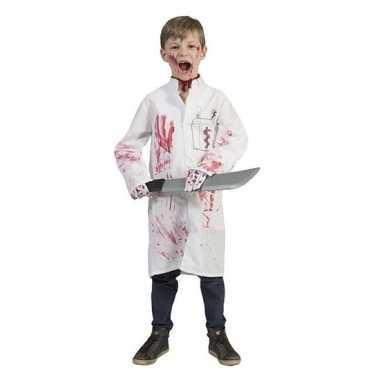 Foute halloween bloederige doktersjas voor jongens kleding