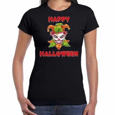 Foute happy halloween groene horror joker t shirt zwart voor dames kleding