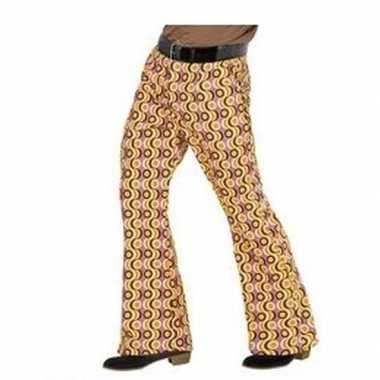 Foute heren hippie broek met retro print maat xxl kleding