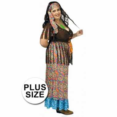 Foute hippie jurk grote maat voor dames kleding