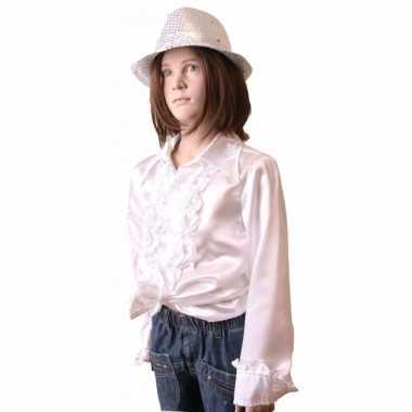 Foute hippie rouche blouse meisjes wit kleding