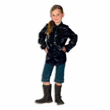 Foute hippie rouche blouse meisjes zwart kleding