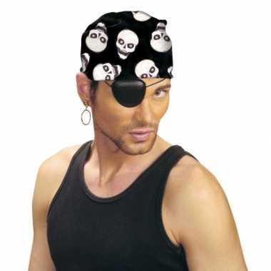 Foute hoofddoek met doodshoofden print kleding