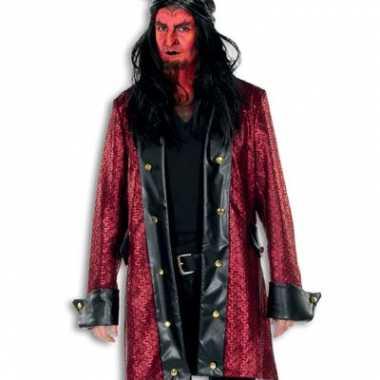 Foute horror jas rood met zwart kleding