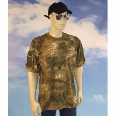 Foute jagers camouflage t-shirt kleding