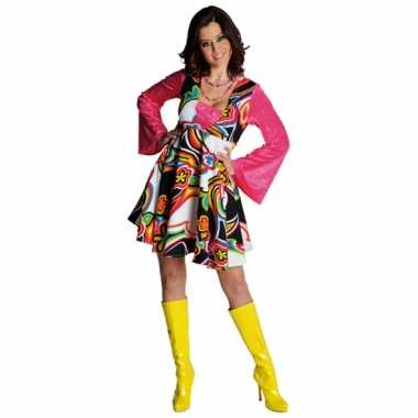 Foute jaren 60 bloemen jurk dames kleding