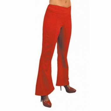 Foute jaren 60 dames broek rood kleding