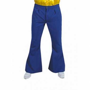 Foute jaren 60 heren broek blauw kleding
