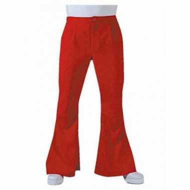 Foute jaren 60 heren broek rood kleding