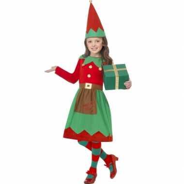 Foute kerstelf jurkje met muts kleding