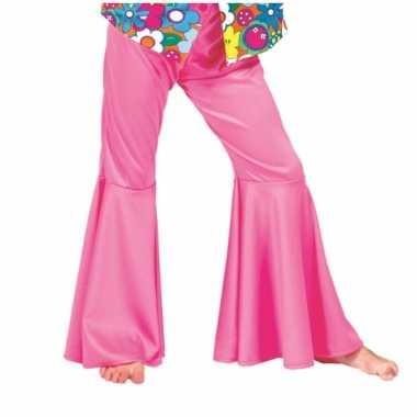 Foute kids hippie broek roze kleding